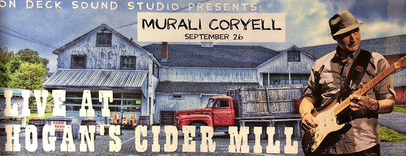 Murali Coryell live in concert at Hogan's Cider Mill